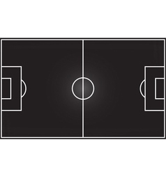 Football field on blackboard vector image vector image