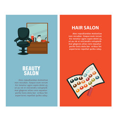 Hairdresser beauty hair salon poster for vector