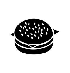 Hamburger icon simple style vector image