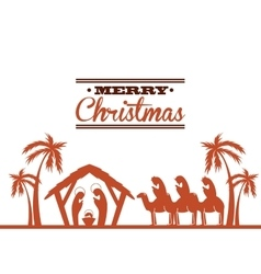 k icon Merry Christmas design graphic vector image