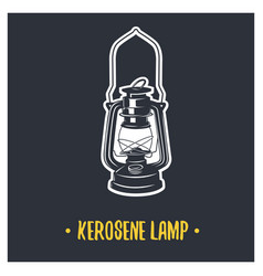 Kerosene lamp vector