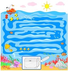 Kids sea maze game vector image vector image