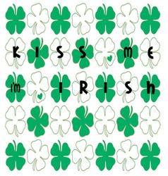 Kiss me im irish vector
