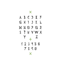 Latin alphabet with numbers vector image vector image