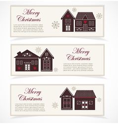Merry Christmas banner vector image vector image
