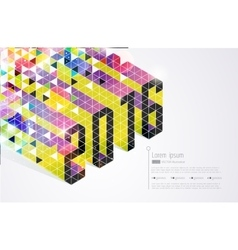 New years card Abstract vector image vector image