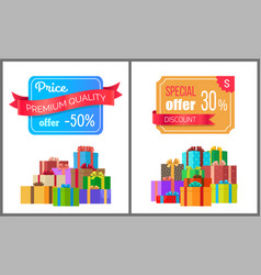 Price premium quality offer special exclusive sale vector