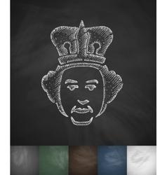 Queen icon hand drawn vector