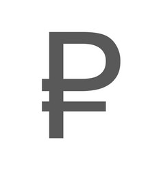 ruble symbol icon simple vector image