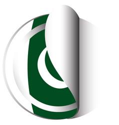 Sticker design for flag of pakistan vector