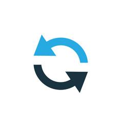 sync colorful icon symbol premium quality vector image