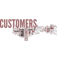 Ten ways to improve your customer service text vector