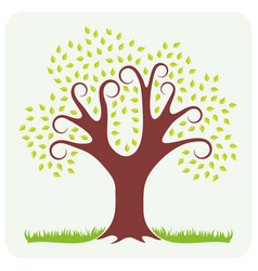Tree in spring vector
