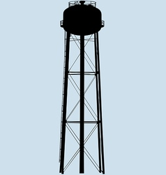 water tower silhouette vector image vector image
