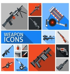 Weapon icons set vector