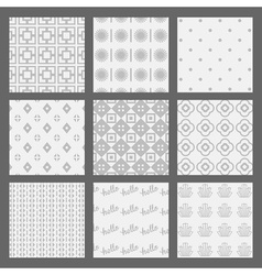 White and gray modern geometrical pattern set vector