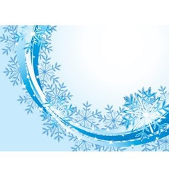 Winter wave pattern background vector image vector image