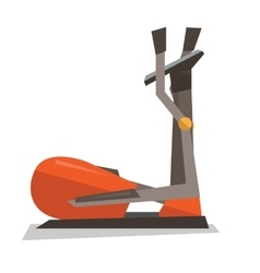 Elliptical cross trainer machine vector