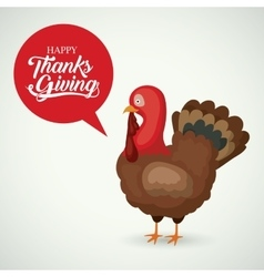Turkey of thanks given design vector