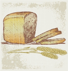Rye bread vector