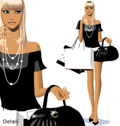 Fashion shopping vector