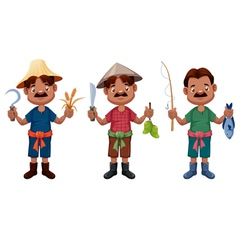 Cartoon farmer vector image