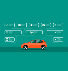 car service and repair infographic vector image