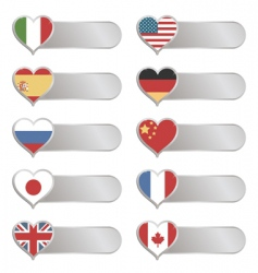 Chrome flag tabs vector