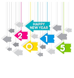 Happy new year 2015 greeting design with hang vector