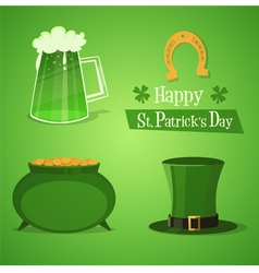 St patricks icons vector
