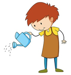 Watering vector image
