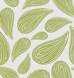 Abstract seamless pattern green leaves background vector