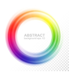 Abstract blurry color wheel vector