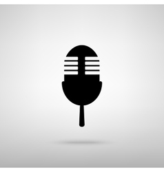 Retro microphone sign vector