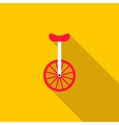 Unicycle or one wheel bicycle icon vector