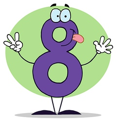 Funny cartoon numbers-8 vector