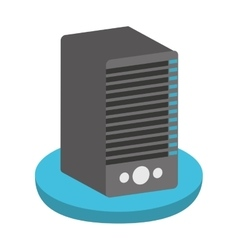Tower server computer isolated icon design vector