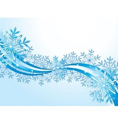 Winter wave pattern background vector