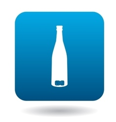 An empty wine bottle icon in simple style vector