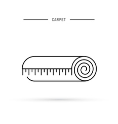 Linear icon of a carpet vector
