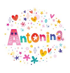 Antonina girls name vector