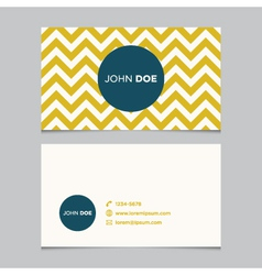business card pattern yellow 01 vector image vector image