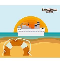 Caribbean cruise design vector