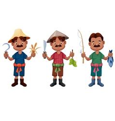 Cartoon farmer vector