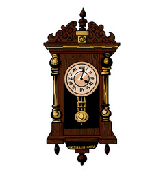 Cartoon image of old clock vector