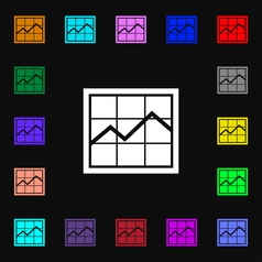 Chart icon sign Lots of colorful symbols for your vector image