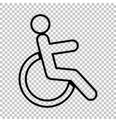 Disabled sign Line icon vector image vector image