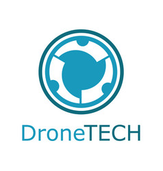 drone technology logo vector image