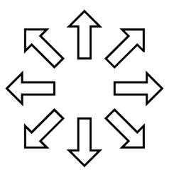 Expand arrows stroke icon vector