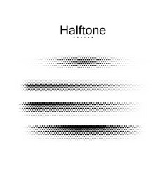 halfton brush strokes collection vector image vector image